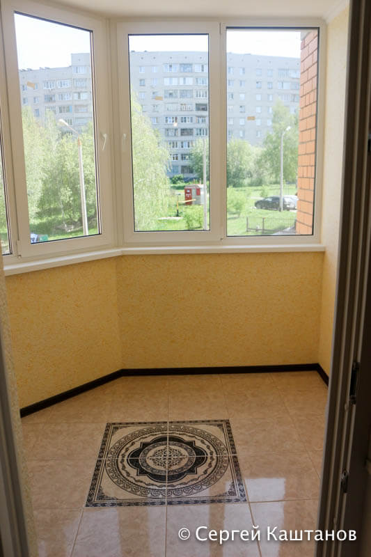Ремонт балкона в 3-комнатной квартире в Чебоксарах