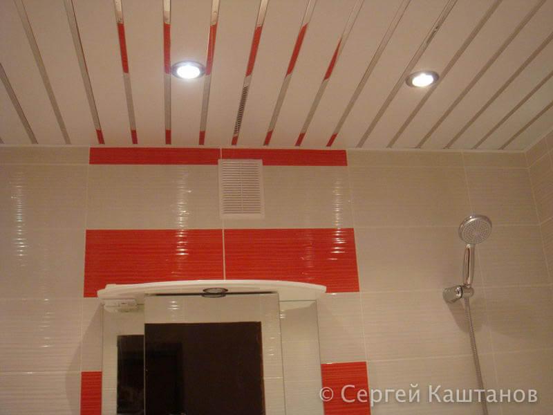 Ремонт ванной в красно-белых тонах в новостройке в г. Чебоксары